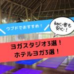 【バリ島】ウブドでヨガならココ!おすすめのヨガスタジオ3選!+ホテルヨガ3選!