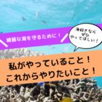 綺麗な海を守るために私がやっている7つのこと!これからやりたいことも調べてみた!